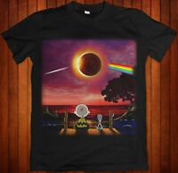 Pink Floyd Solar Eclipse – Snoopy And Charlie Brown Black Unisex T shirt