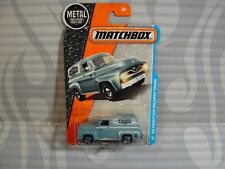2017  MATCHBOX  #17 = `55 FORD F-100 DELIVERY TRUCK  = BLUE