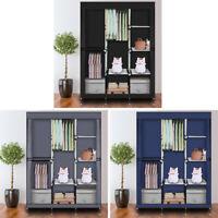 "Fabric 71"" Portable Closet Wardrobe Clothes Rack Storage Organizer with Shelf"