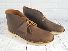 Clarks Originals Men's Beeswax Leather Desert Boots UK 8
