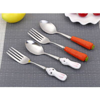 1pcs Kid/'s Fork Spoon Set Tableware Bread Stainless Steel Cartoon Forks
