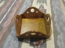 Handmade Solid Wood Oak Napkin Holder