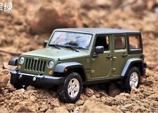 Maisto 1:24 2015 JEEP Wrangler Unlimited Diecast Metal Model Car New Green