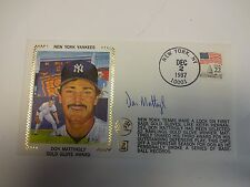 Don Mattingly Gold Glove Award Autographed Cache New York Yankees M92199
