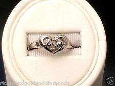 10kt White Gold Heart Shape Love Promise Engagement Fashion Ring