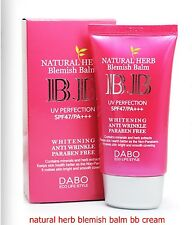 50ml[DABO] Natural Herb Blemish Balm BB Cream Whitening,Anti-Wrinkle,SPF47 PA+++