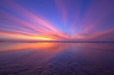 """Australian  sunset beach ocean art landscape print poster for glass frame 36"""""""