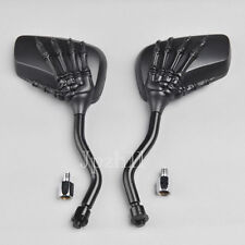 Black Motorcycle Chopper Cruiser Side Mirrors For Honda Yamaha Suzuki Kawasaki