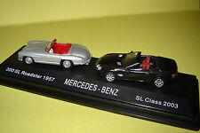 DUO MERCEDES-BENZ 300SL ROADSTER 1957 - SL CLASS 2003 au 1/87° (HO)