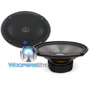 """CDT AUDIO HD-690CF 6""""x9"""" CARBON FIBER CAR SUBWOOFER MIDWOOFER SPEAKERS PAIR NEW"""
