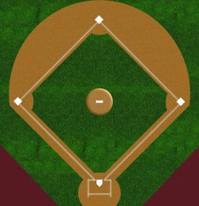 O Scale Baseball Field Model Train Scenery Sheets – Train Layout Feature