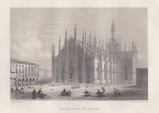Milano Cattedrale 1864 bulino acquaforte