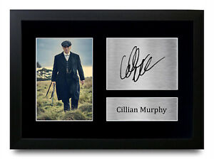 Cillian Murphy Signed A4 Printed Autograph Framed Photo Print Peaky Blinders