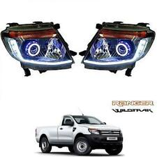 FIT 11-14 Ford Ranger Projector Led Ccfl Angle Head Lamp Light Ute Wildtrak Px