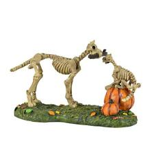 "Dept. 56 Snow Village Halloween Accessory ""HAUNTED PETS AT PLAY"" ~  SKELETONS"