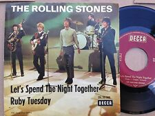 7'Rolling Stones >Let's spend .../Ruby Tuesday< STAGECOVER ORIG. DECCA GERMANY