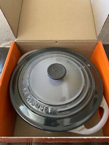 NEW Le Creuset 2 3/4 Quart Dutch Oven Round Casserole Flint Oyster Gray