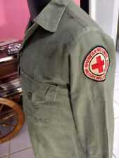 USMC Vietnam Fatigue Shirt with Red Cross patch