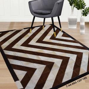 Modern rug floor rugs patchwork cowhide rug Bohemian new rugs online AU 7-44