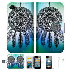 Dream Catcher Wallet Case Cover For Apple iPhone 4 4S -- A026