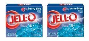 Jell-O Berry Blue Gelatin Dessert Mix 2 Box Pack