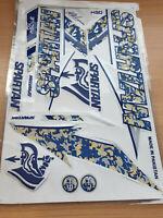 3D/EMBOSSED SPARTAN BLUE CAMU MSD CRICKET BAT STICKER +1 2D STICKER FREE