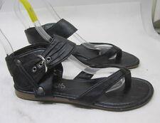 Mujer Verano Negro Zapatos Mujer Sandalias Tira en Tobillo Talla 7