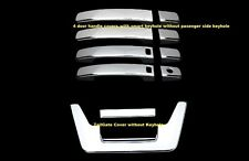 FOR 05~12 Nissan Frontier Chrome Tailgate 4 Door Handle Covers WITH SMART KEY