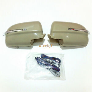 Rear-view Mirror LED Lights +Cover for Mitsubishi Lancer Evolution Galant Fortis