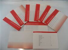 Generic Service History Book Suitable For Audi A1 A2 A3 A4 A5 A6 A7 A8 TT Red
