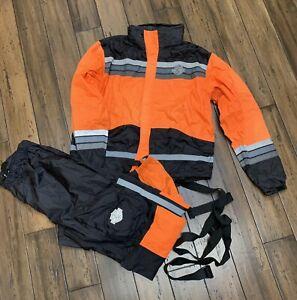 HARLEY DAVIDSON MEN's Hi Vis Rain Suit XLarge 98275-08VM Reflective