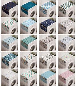 Ambesonne Nautical Washing Machine Organizer Cover for Washer Dryer