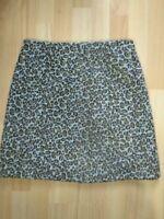 Animal Print Mini Skirt Fluffy TU Beige Brown Tan Leopard Size 10