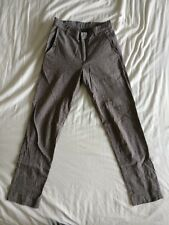 Vintage American Apparel Grey High Waisted Chambray Tailored Slim Trousers 27