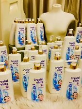🌼1X CRYSTAL WHITE WHITENING 💡SHOWER GEL 1000ML 🇬🇧 UK BUYERS +🇺🇸USA ONLY💪