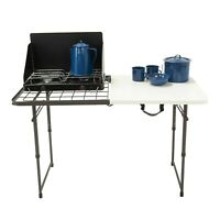Bbq Charcoal Grill Outdoor Cooking Portable Folding Camping Kitchen Picnic Table
