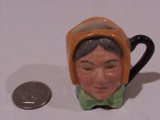 Royal Doulton Charles Dickens Tiny Character Jug  Mrs Bardell
