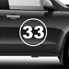 2x Custom Number Rally Racing Circle Decal Auto Car Race Sport Sticker