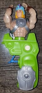 Gun Man Magnon Figure Galaxy Warriors Green Squirt Gun Chicos Spain MOTU KO