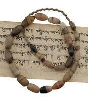 Ancien collier Perle Dzi Agate naturelle Chamane Tibetain Nepal Himalaya  26833