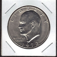1972-P  UNCIRCULATED  EISENHOWER (IKE) DOLLAR (SOME SPOTS AND/OR TONING)