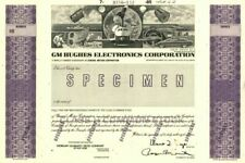GM Hughes Electronics Corporation - Stock Certificate