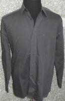 180 F3 Eterna  Hemd Gr. M KW 39 grau dunkelgrau Langarm Kentkragen Herrenhemd