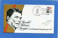Ronald Reagan Inauguration Goldberg Hand Painted Cachets First Day Cover