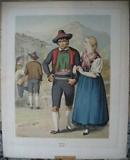 ORIGINALE LITO Costume MERANO ALTO ADIGE di A. Kretschmer Tyrol