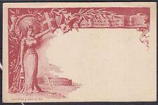 Italien alte 10 C. Ganzsache 1896, Erinnerungskarte, gest., GA Asher 31, Klassik
