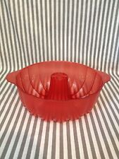 Tupperware Cake/Jello Mold 3qt Red Acrylic New