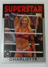 WWE Charlotte Flair #44 2016 Topps Heritage Silver Parallel Card SN 21 of 50