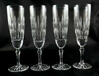 4 rare Edinburgh Crystal vintage lead champagne flutes glasses Gleneagles