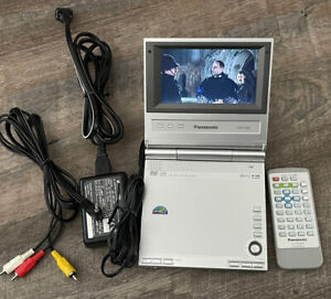 "Panasonic DVD-LV50 Portable DVD CD Player 5"" w/ Remote Control & Charger"